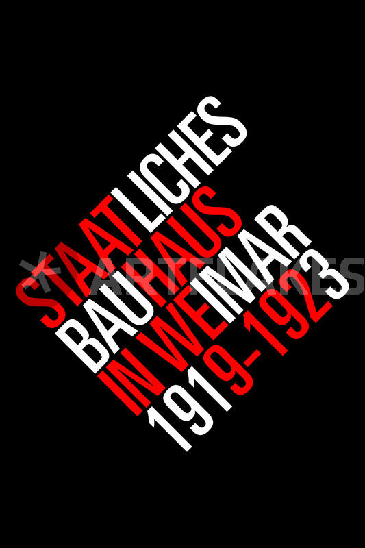 Staatliches bauhaus black leinwanddruck von the usual for Staatliches bauhaus