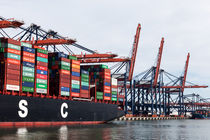 Container ship by Irene Hoekstra