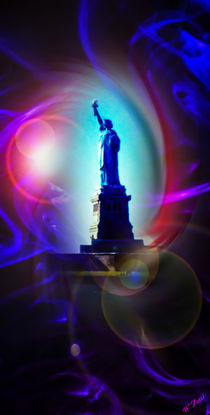 Statue of Liberty - Freiheitsstatue New York abstract 6 by Walter Zettl