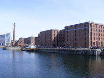 Pump house Pub and the Albert Dock by John Wain