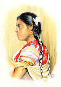 Maya woman from Chiapas, Mexico by Colette van der Wal