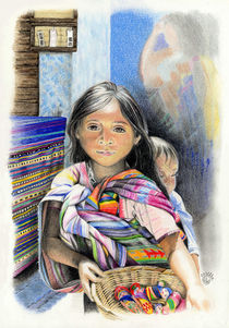 Child on a market in Chiapas, Mexico by Colette van der Wal