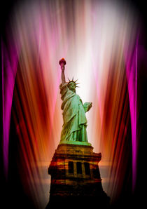 Statue of Liberty - Freiheitsstatue New York abstract 8 by Walter Zettl