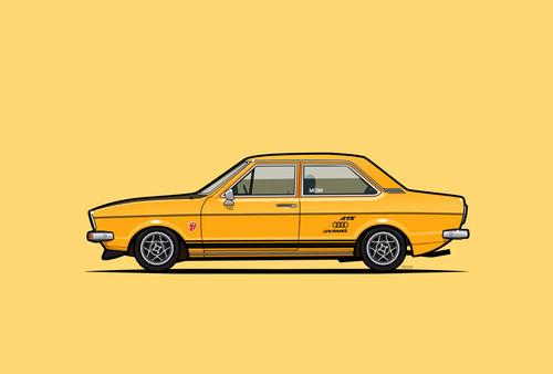 Illu-audi-b1-80-gt-yellow-poster