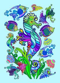 Marine Life Exotic Fishes & SeaHorses Ornamental Style von bluedarkart-lem