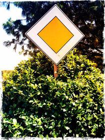 A yellow sign by Gordan Bakovic