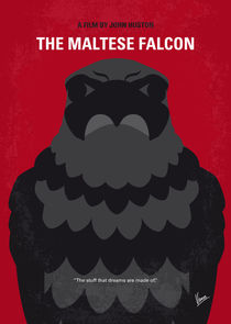 No780 My The Maltese Falcon minimal movie poster von chungkong