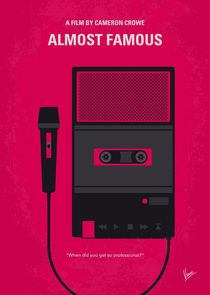No781 My Almost Famous minimal movie poster von chungkong