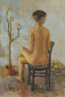 Sitzende Frau by alfons niex