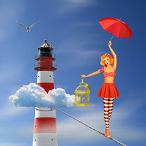 Hoch hinaus und die Balance halten by Monika Juengling