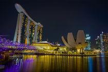 Marina Bay Sands bei Nacht, Singapur von globusbummler