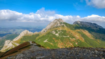 Giewont, Mountain in Polish Tatras with a cross on top, Western Tatras Mountain in Poland by Tomas Gregor