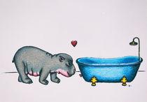 hippo in love von danielaschlechmair