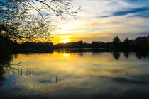 Sunset Over U.E.A Lake, Norwich, England by Vincent J. Newman