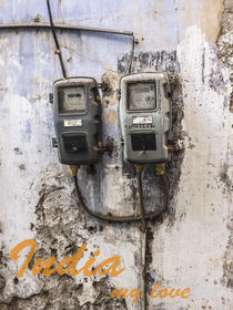 India, my love. elctricity meters by anando arnold