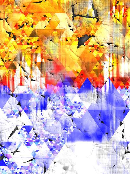 Geometric-triangles-17001-ocean-sunrise-oliverp-art