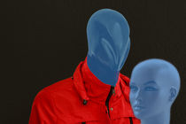 Blue man and woman by Gisela Peter