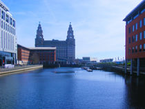 Liver Building from Princes Dock by John Wain