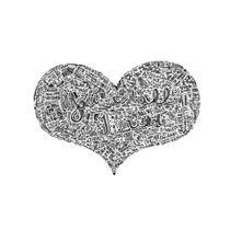 All I need - Radiohead lyrics doodle von Mariana Beldi
