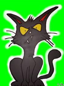 Grüne Art Katze by Stefan Gilles