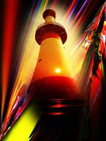 Leuchtturm - Romantik 5 by Walter Zettl