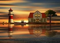 Die Idylle beim Leuchtturmwärter by Monika Juengling