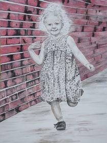Kind in freudiger Bewegung by Helmut Hackl