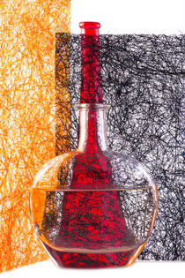 Photograffity. Red bottle by Valentin Ivantsov