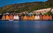 Trade houses of Bryggen in Bergen by Bastian Linder