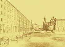 Albert Dock, Liverpool (Digital Art) von John Wain
