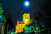 Full Moon Above Cathedral of St John The Baptist, Norwich, U.K von Vincent J. Newman