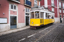 Tram in Lisbon at Alfama by Bastian Linder