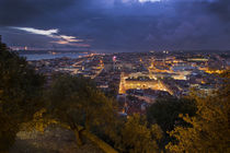 Lisbon city at night from above by Bastian Linder