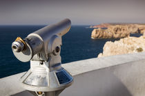 Telescope at lighthouse Sao Vicente, Sagres Portugal by Bastian Linder