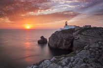 Lighthouse Sao Vicente during sunset, Sagres Portugal by Bastian Linder