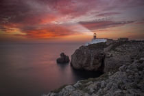Lighthouse Sao Vicente during sunset, Sagres Portugal von Bastian Linder