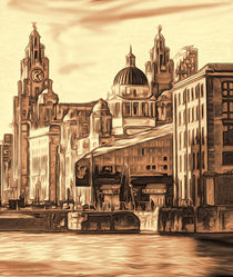World famous Three Graces (Digital painting) by John Wain