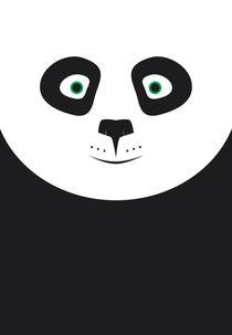 Panda - Minimalist von Dipen Mandaliya