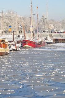 Schiff im Eishafen 2 von Edmond Marinkovic