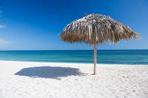 Caribbean beach with parasol in Cuba von Bastian Linder