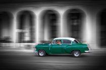 Green old car, Havanna Cuba by Bastian Linder
