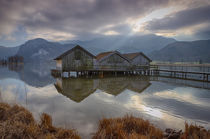 Kochelsee with huts by Bastian Linder