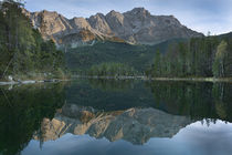 Lake Eibsee with Zugspitze in Bavaria by Bastian Linder