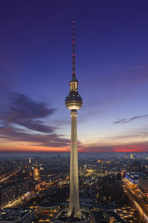 TV tower of Berlin at Alexanderplatz by Bastian Linder
