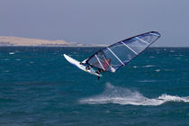 Windsurfing jump in Egypt, Hurghada by Bastian Linder