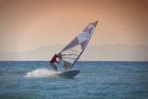 Windsurfing in Rhodes, Greece by Bastian Linder