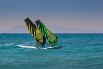 Tandem Windsurfing in Rhodes Greece by Bastian Linder