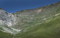 Road at Passo dello Stelvio in the Alps, Italy von Bastian Linder