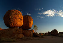 Devils Marbles in Sunset by Bastian Linder