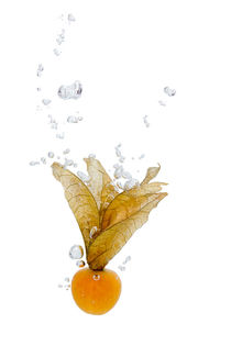 Cape gooseberry in water with air bubbles von Bastian Linder